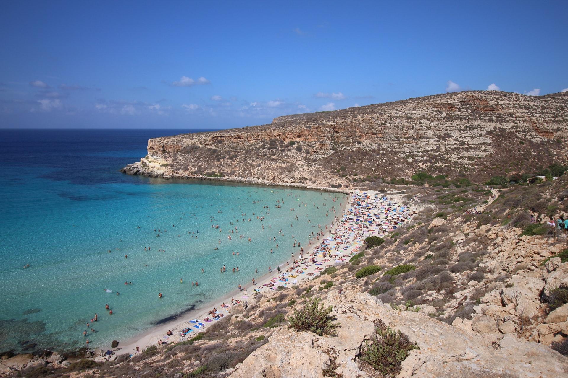 Spiaggia isola dei Conigli Lampedusa