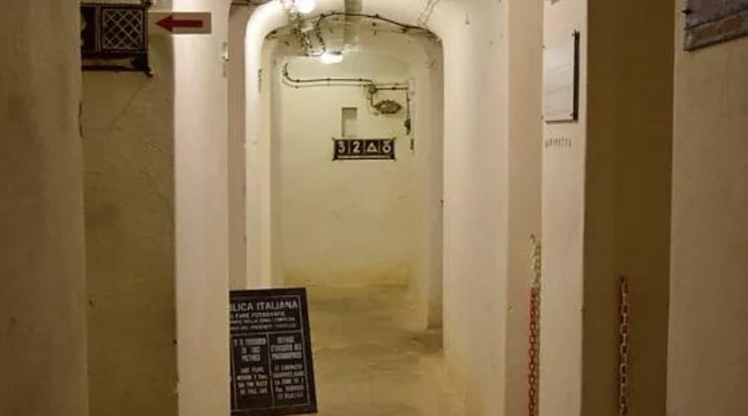 Corridoio del bunker di Dobbiaco
