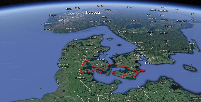 Mappa ciclabile baltico danimarca