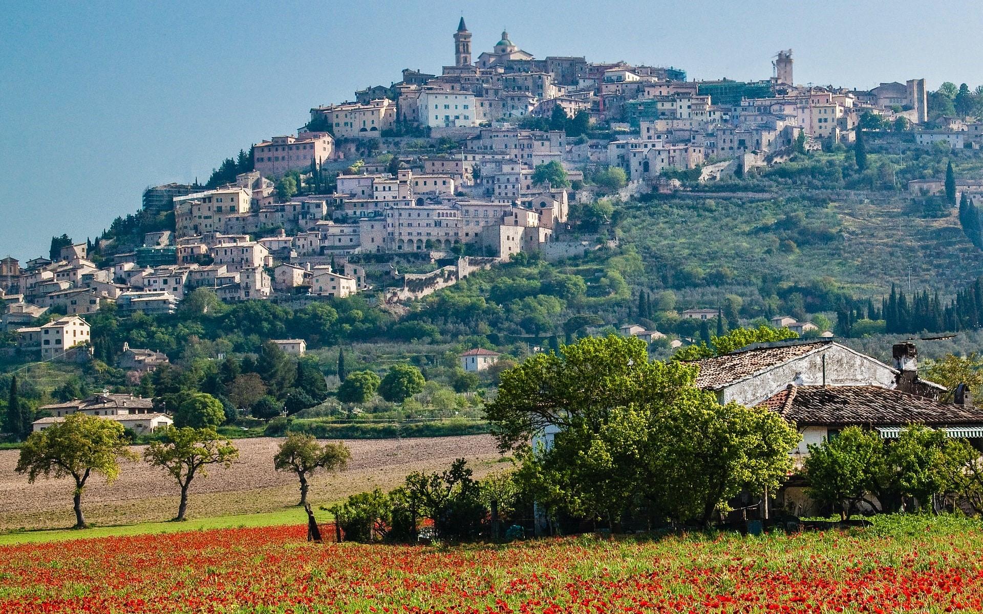 Trevi in Umbria a maggio
