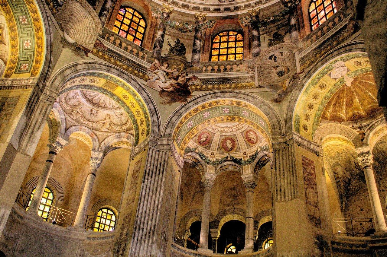Basilica di San Vitale a Ravenna treno dante